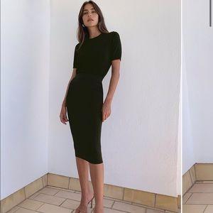 Babaton Sculp Knit Tube Skirt